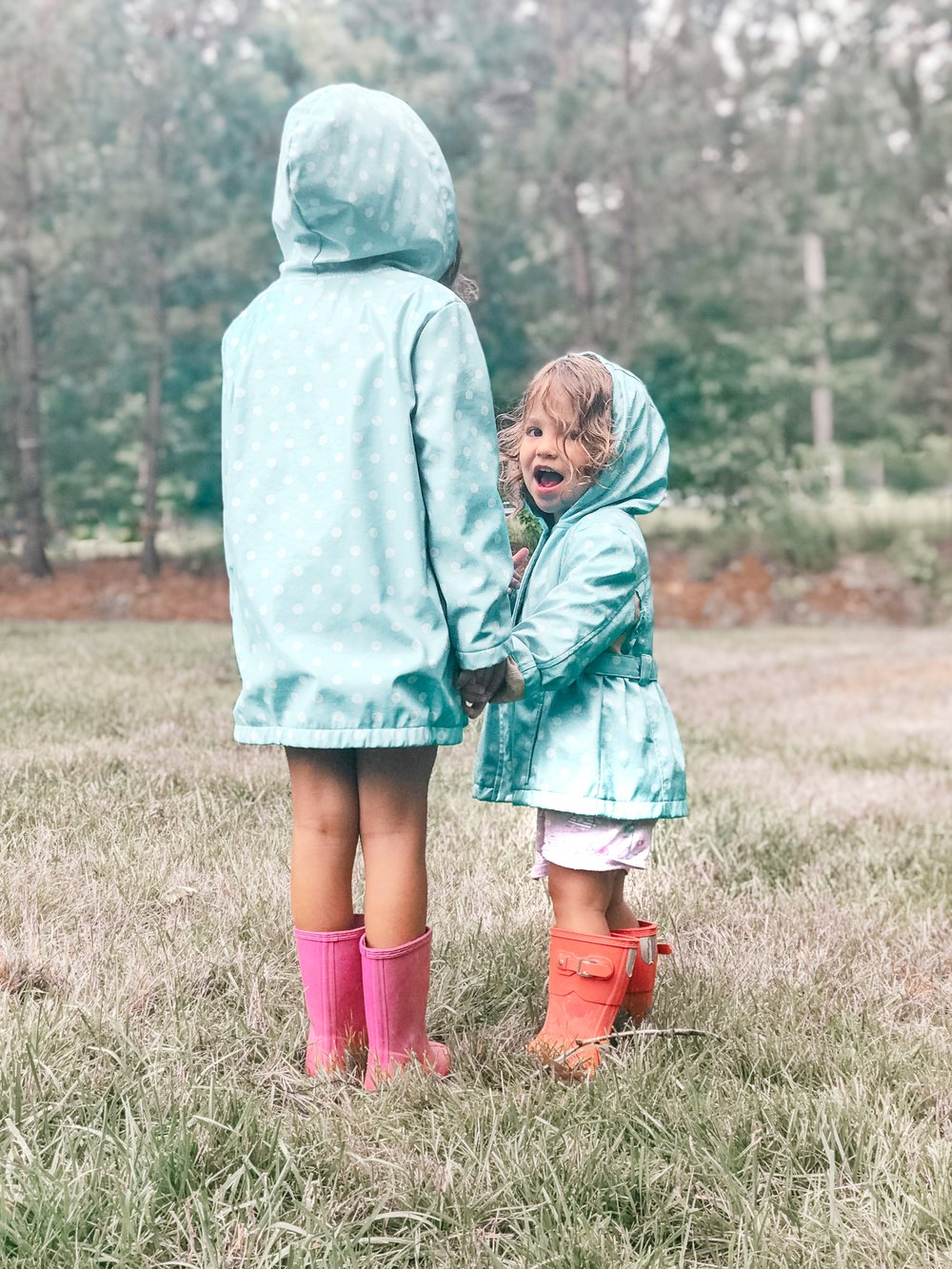 Chrissy Marie blog matching raincoats