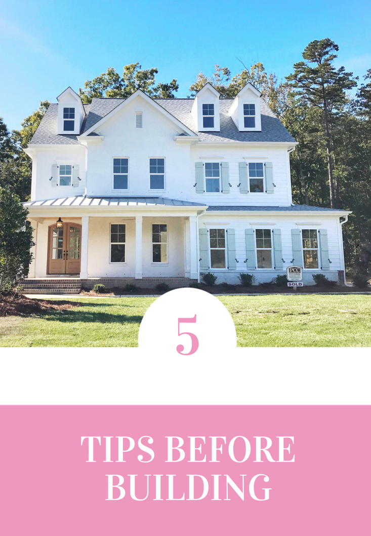 5 tips before building a new home