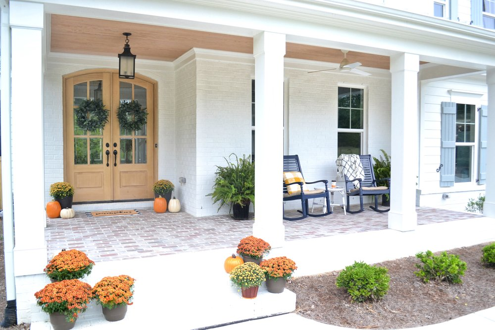 Our Fall Front Porch - Fall 2018