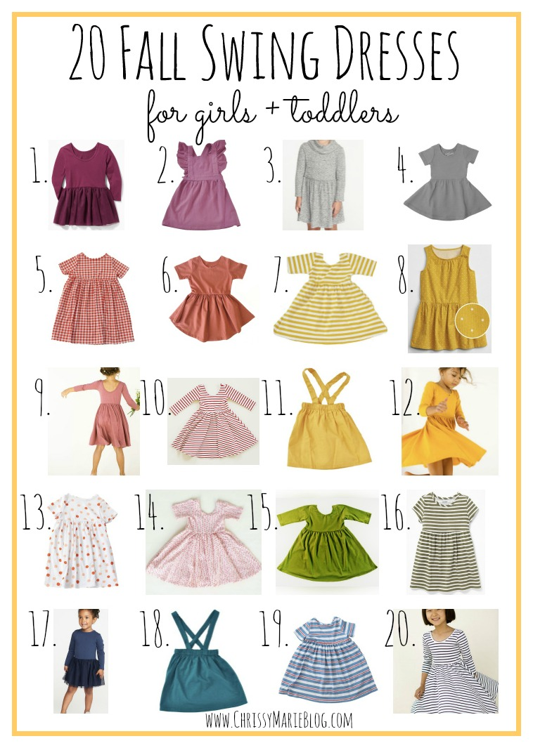 best fall dresses for girls and toddlers
