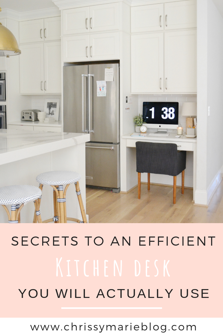 The Secrets To an Efficient Kitchen Desk You'll Actually Use!