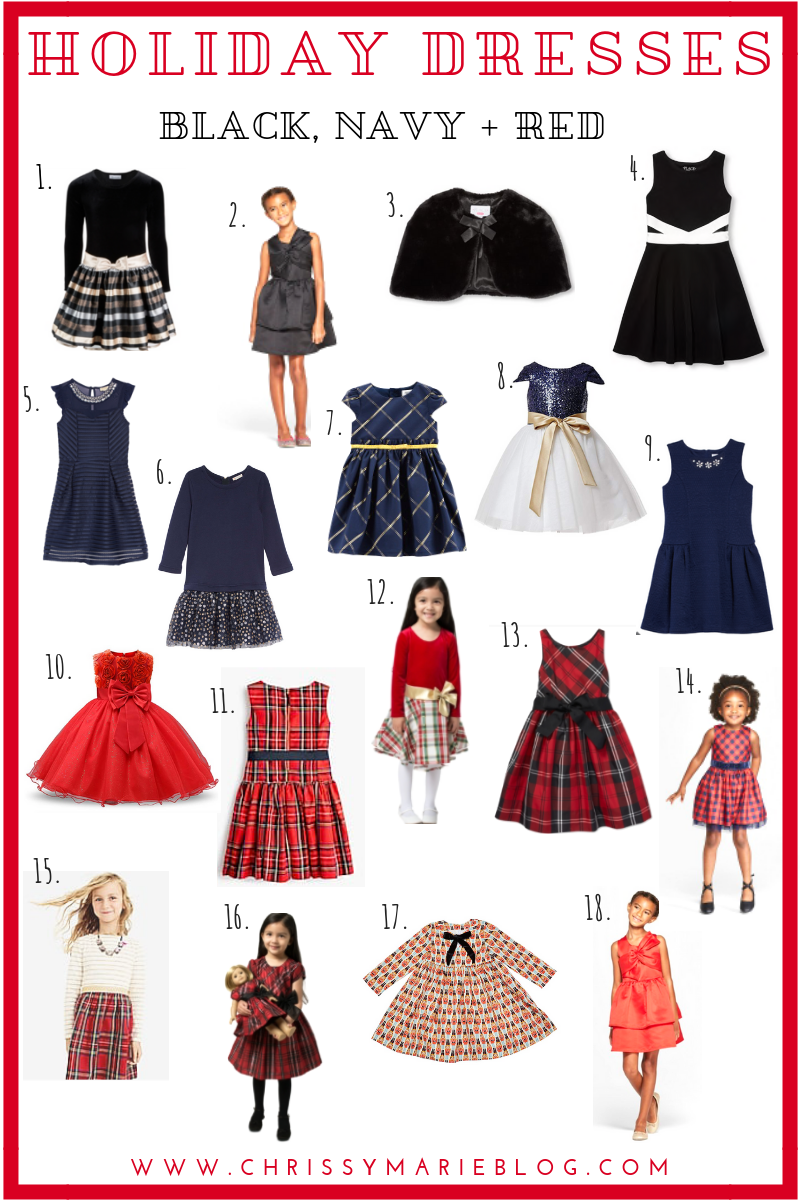 A Round Up of Little Girls Holiday Dresses for Every Style + Budget!