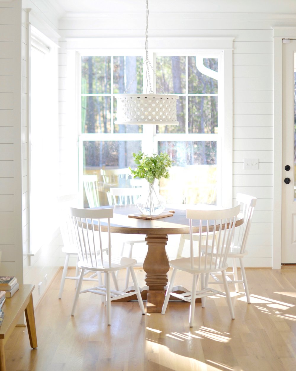 Our solid wood kitchen table from Wayfair