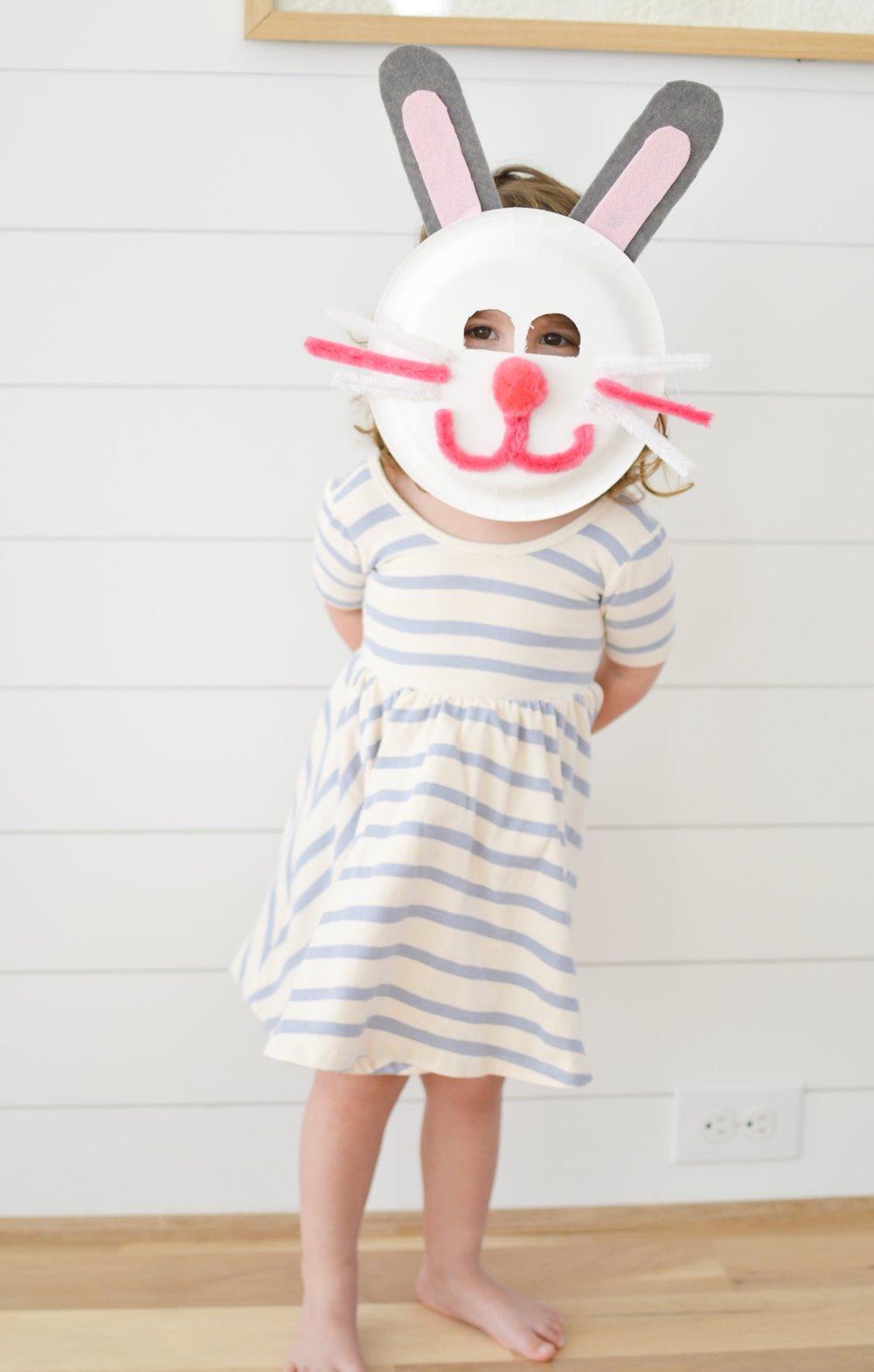 An Easy Easter Craft for Kids: Easter Bunny Masks