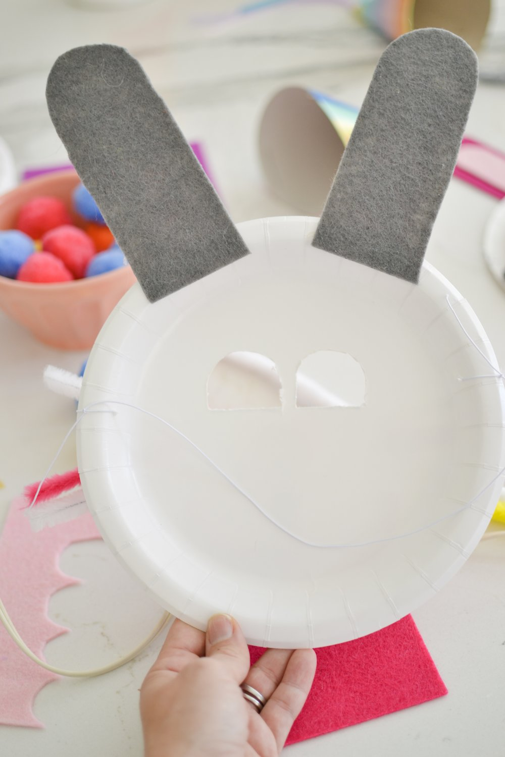 This is the BACK of the bunny mask.