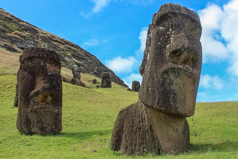 Full travel blog guide to Easter Island on a budget. Moai statues, Rapa Nui, Chile.