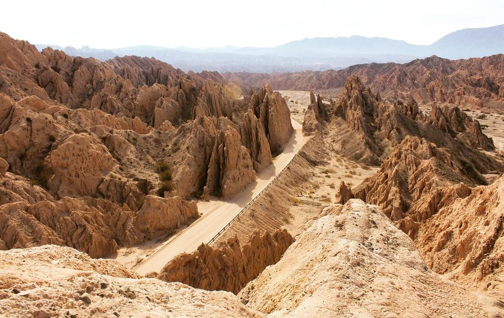 Rocky canyons of Northern Argentina, on the road from Salta to Cachi