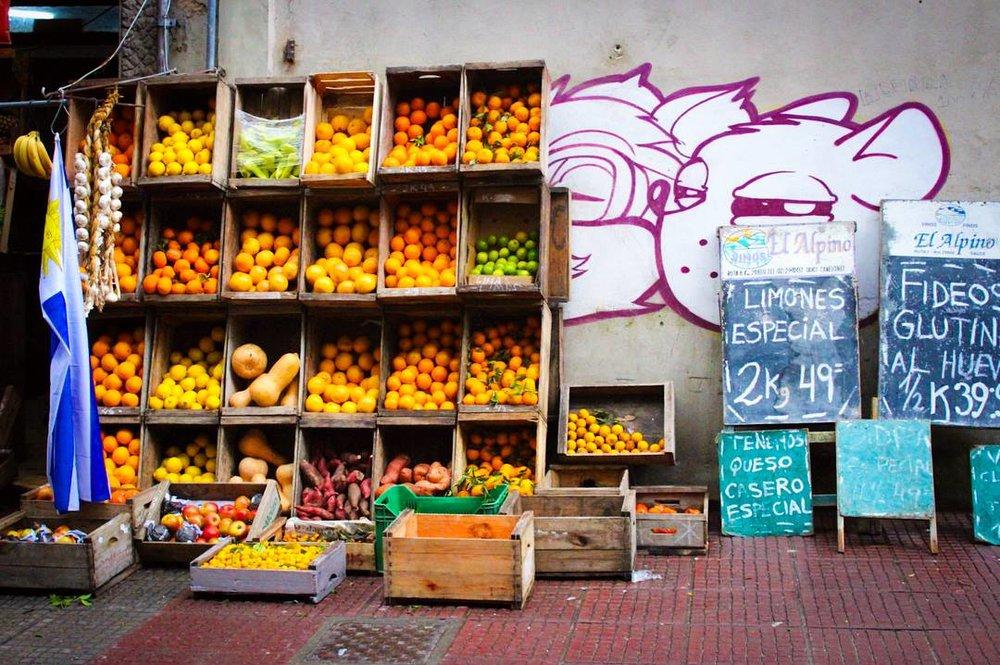 Market stall in Montevideo, Uruguay