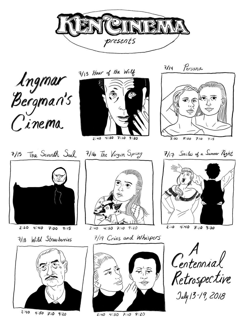 Landmark's Ken Cinema's Ingmar Bergman Centennial Retrospective poster (2018)