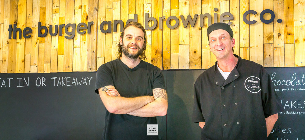 Rhys and Dave from the burger and brownie Co, Artisan Restraunt