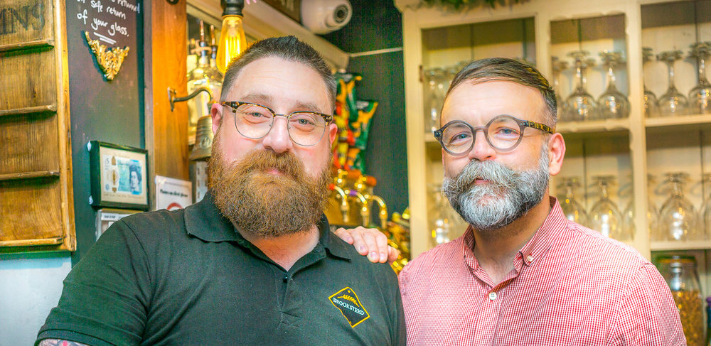 Aaron and John from the Brooksteed Ale House, Micropub