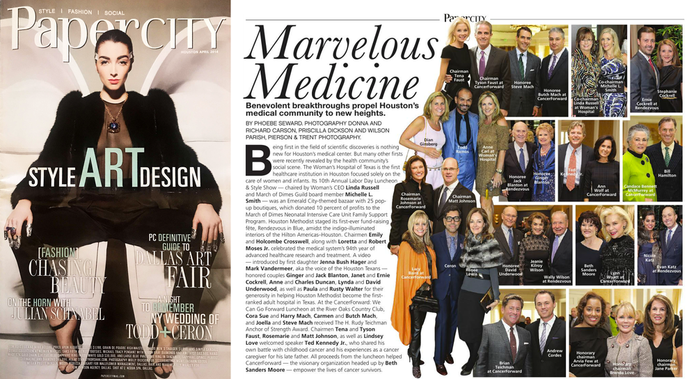 PaperCity Magazine Houston, April 2014 - Marvelous Medicine