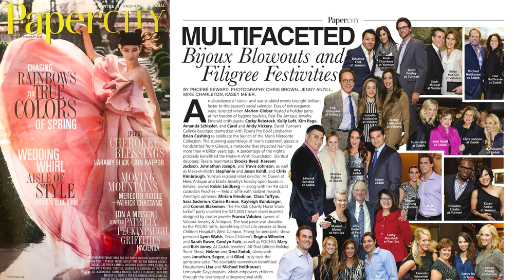 PaperCity Magazine Houston, February 2014 - Multifaceted Bijoux, Blowouts & Filigree Festivities