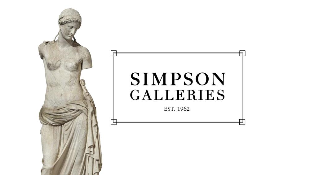 Simpson Galleries Print Media Advertisement