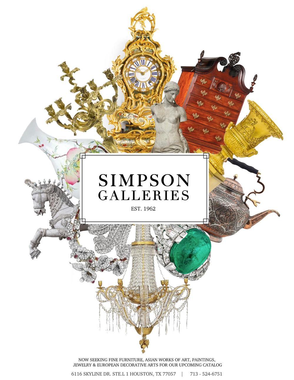 Simpson Galleries Print Advertisement