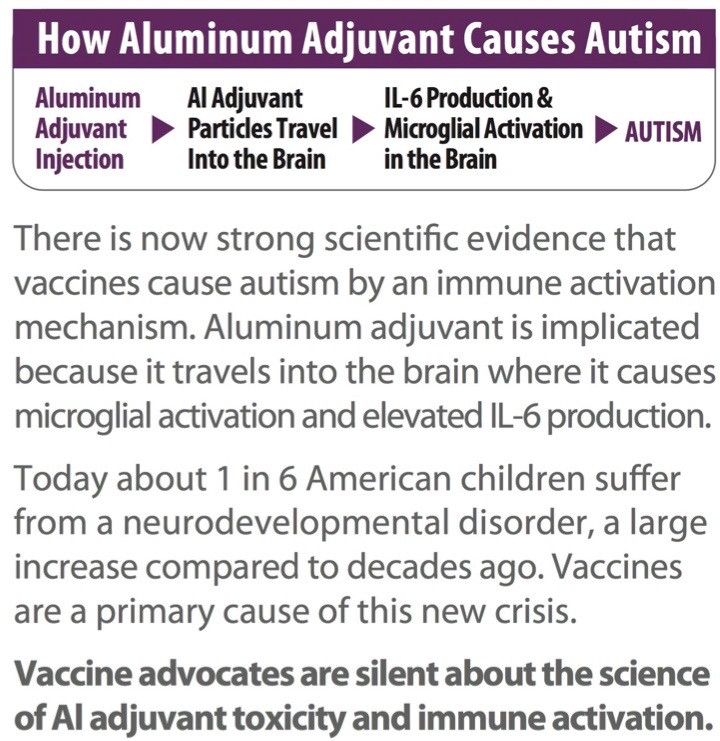 (Questo grafico è tratto da una grande brochure creata da Vaccine Papers, puoi avere una copia completa qui QUI.)