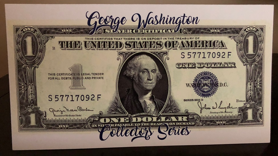 1935 D Series $1 Silver Certificate Note with Limited Edition ...