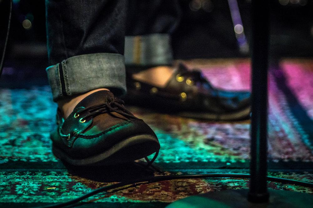 Billy Law's feet