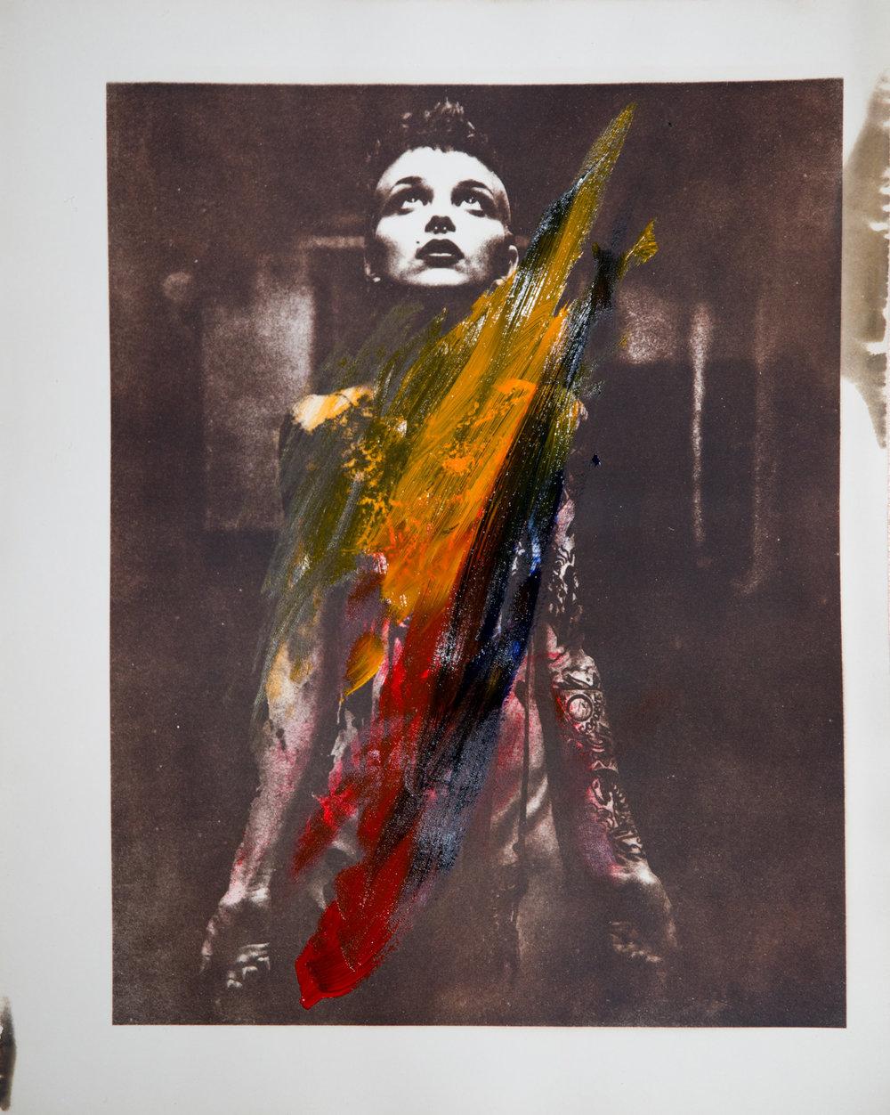 - 24x30cm, Silver Gelatin, Oil paintModel: Lindsay / @lindsaysalterego