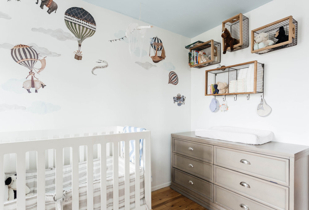 Baby's room with white crib