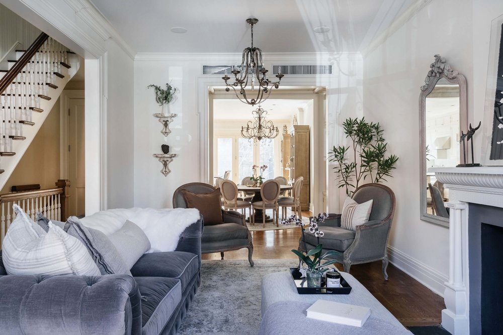 Bright living room area with soft seating