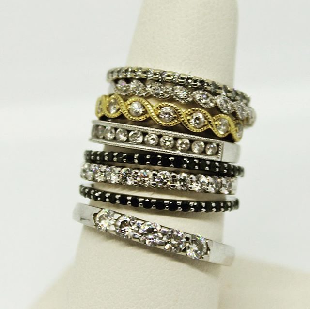 Large selection of Gorgeous Diamond Bands