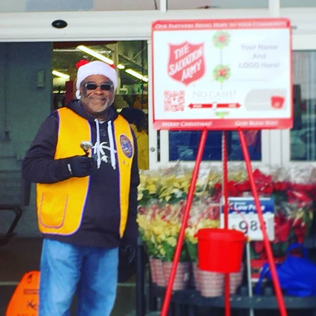 Happy to be out with the Killeen Lion's Club, ringing the bell for Salvation Army collections to help out the hungry and underprivileged in our community! #familystrong
