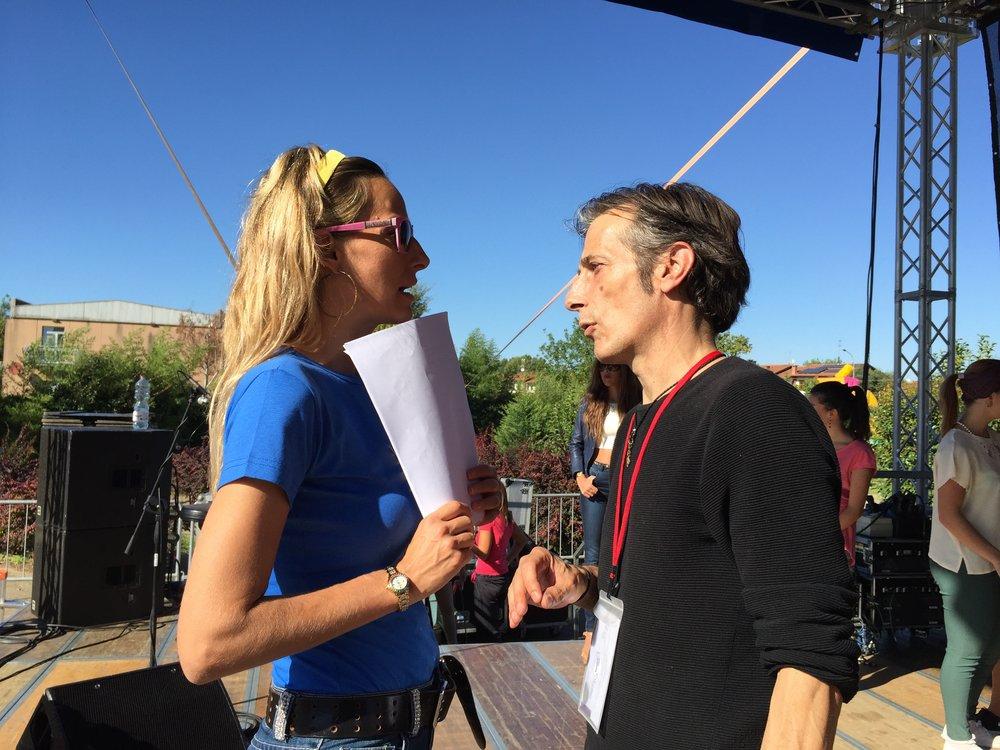 Jessica, da produttrice e conduttrice, e il Direttore Artistico Fabrizio Lello preparano un evento live