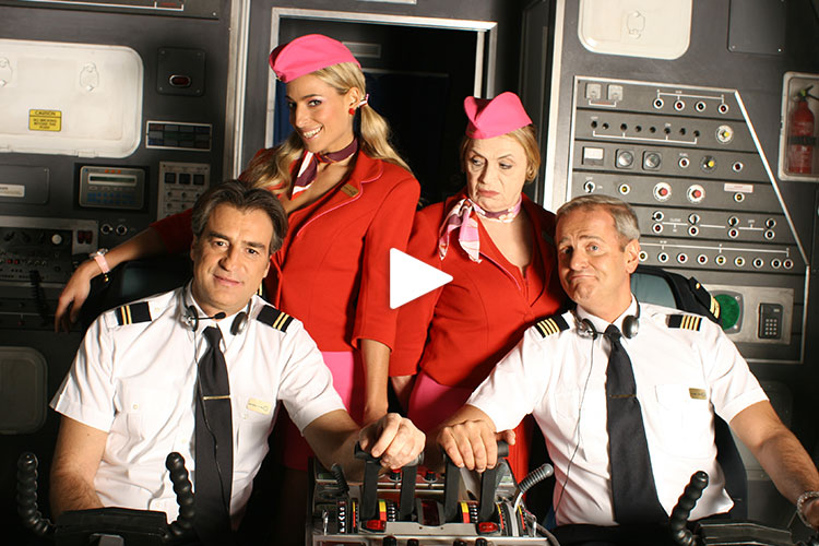 "Selected clips from Jessica's hit sitcom ""Pilots"""