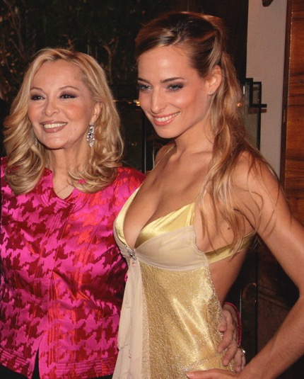 Jessica and publishing and press industry maven Silvana Giacobini at a gala event in her honor