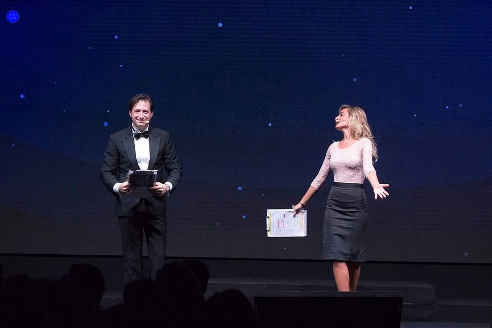 Jessica hosts the annual NC Awards gala evening, honoring excellence in the fields of advertising and communication