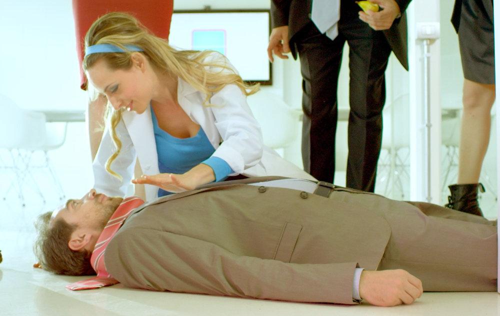 Jessica nella serie Open Space per Mediaset