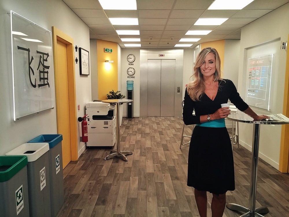 Jessica sul set dell'ultima edizione di Camera Cafe' per la RAI