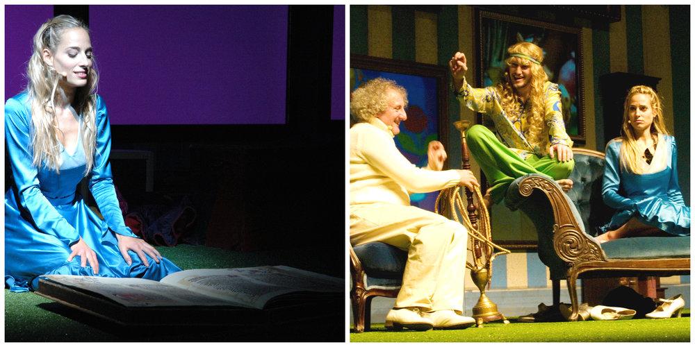 """Jessica e' Alice in """"Alice nel paese delle meraviglie"""" con Omar Fantini e Eugenio Allegri"""