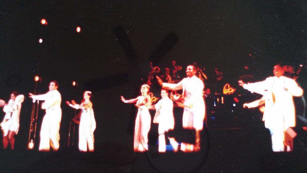 """Jessica, al centro, durante il tour mondiale dello spettacolo Broadway """"Sophisticated Ladies"""" con DeeDee Bridgewater"""