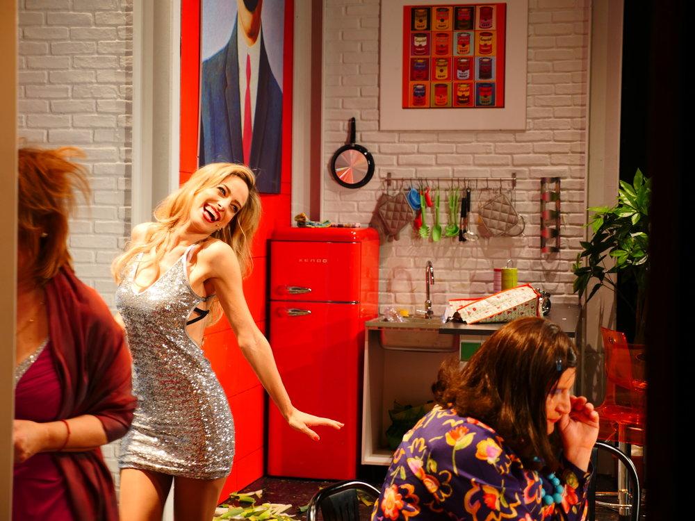 """Jessica in scena in un momento de' """"Il clan delle divorziate"""""""