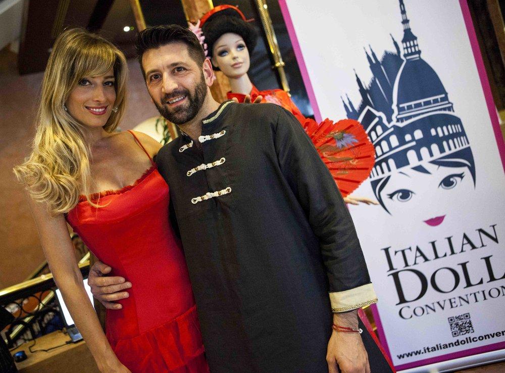 Jessica, con Gianni Grossi, e' ospite all'appuntamento internazionale di collezionisti