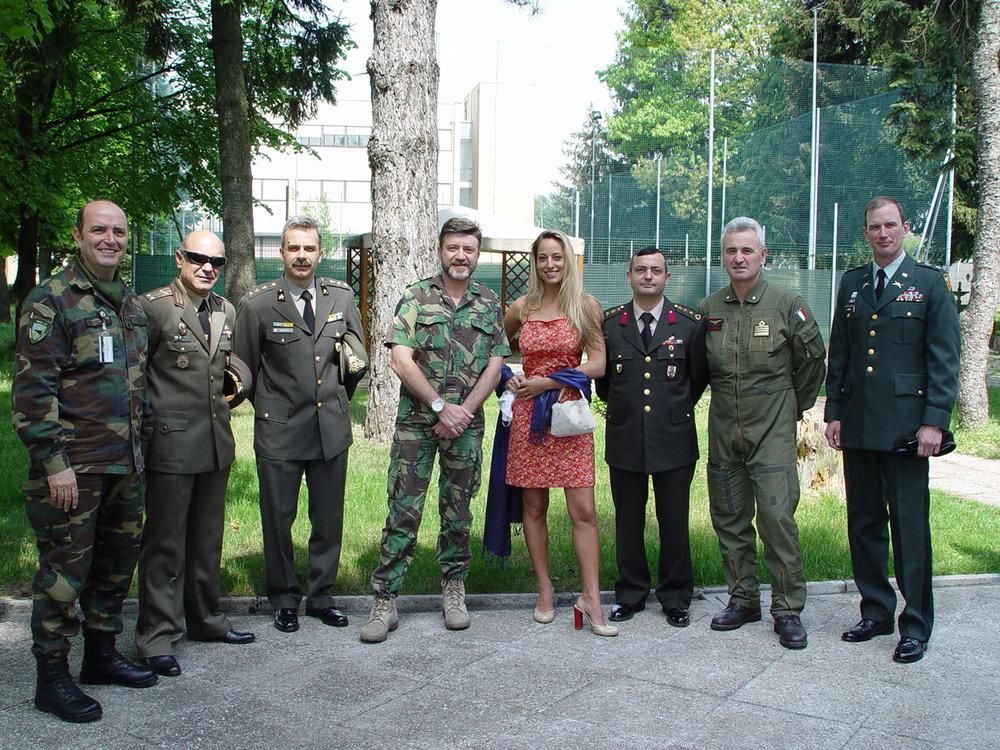 Jessica come testimonial per le iniziative benefiche del NATO RDC
