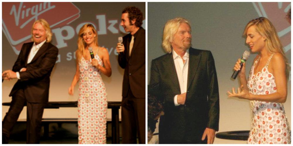 Jessica e Luca e Paolo conducono una serata privata per Sir Richard Branson della Virgin