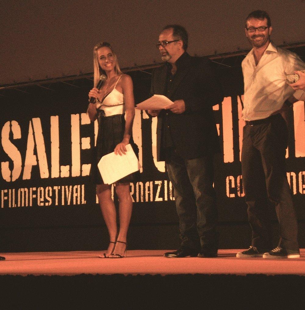 Jessica come conduttrice e giurata del Salento Finibus Terrae Film Festival