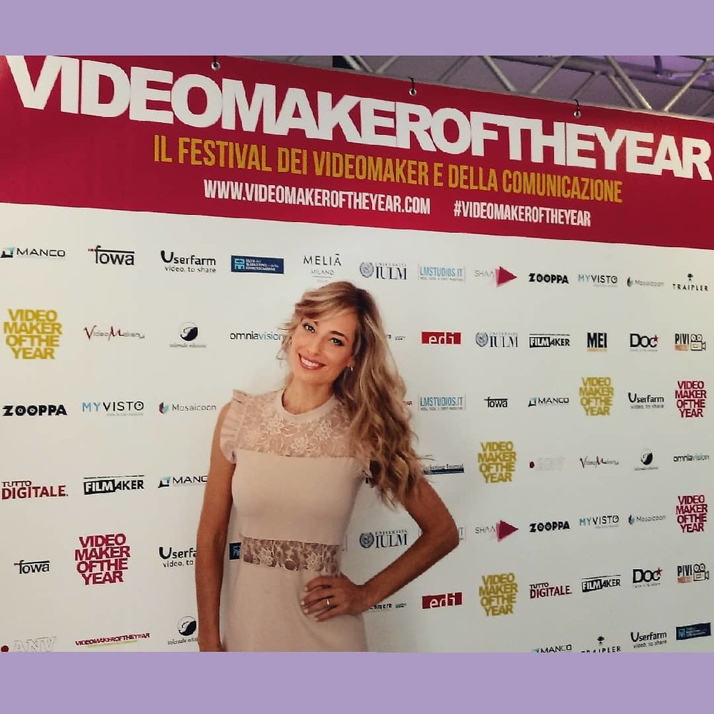 Jessica sul tappeto rosso del festival Videomaker of the year