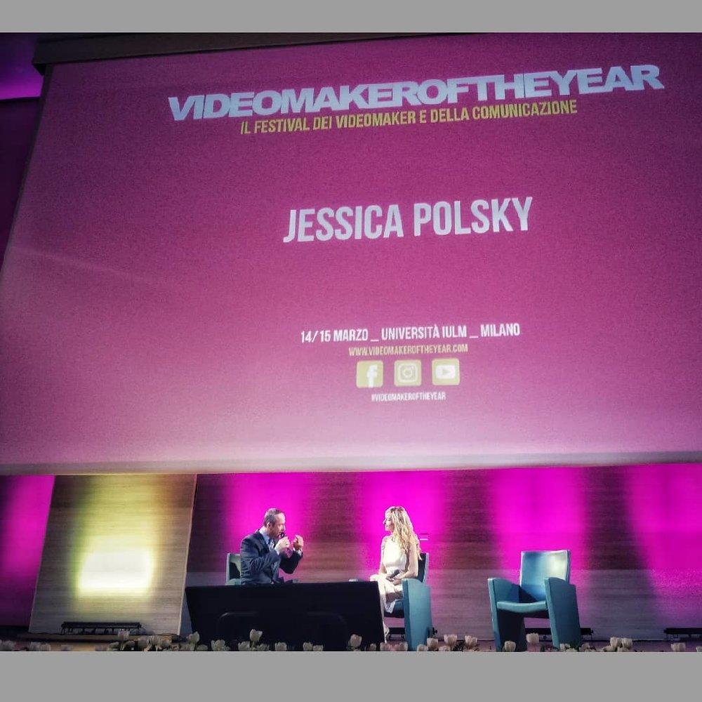 Jessica intervistata per il pubblico del festival Videomaker of the year