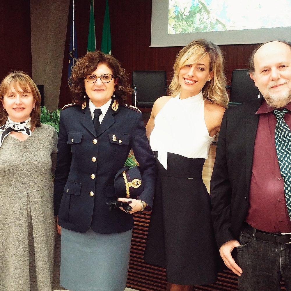 Jessica testimonial della Polizia dello Stato a Milano per Il giorno internazionale della donna