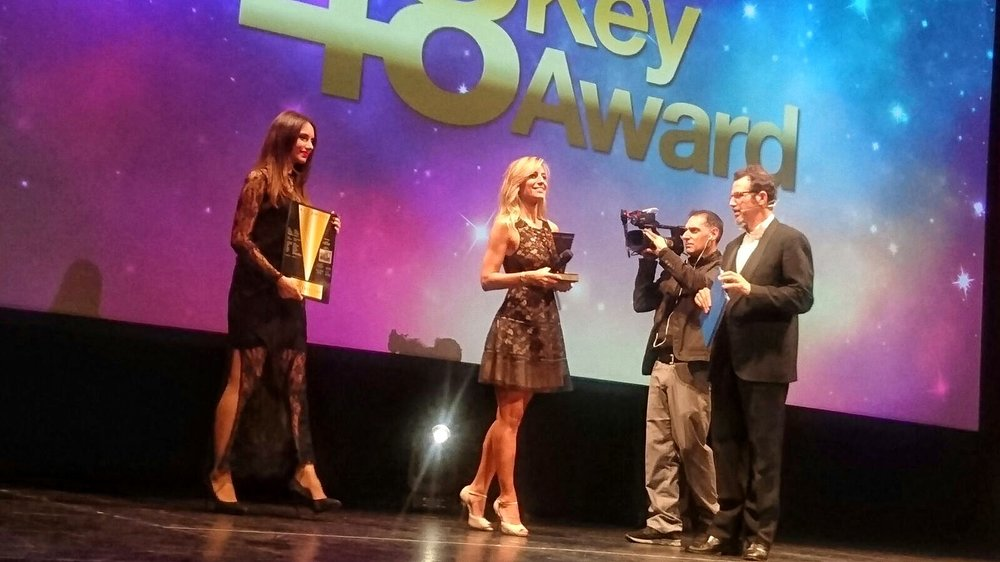 Jessica sul palco dei Key Award a Milano
