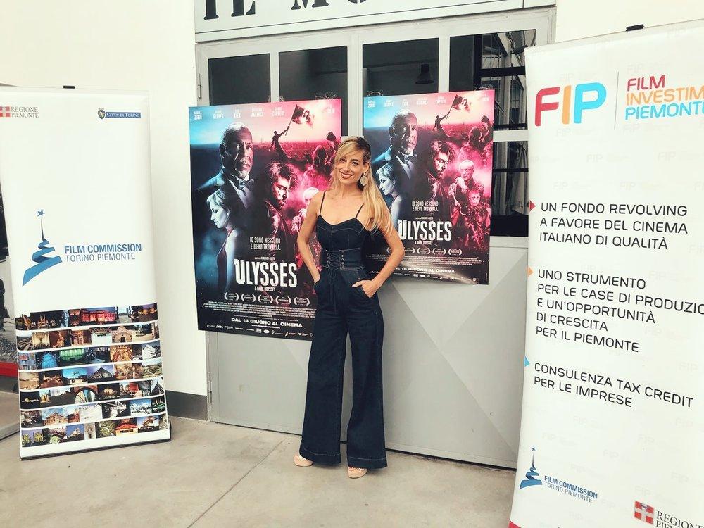 Jessica alla conferenza stampa del suo film Ulysses
