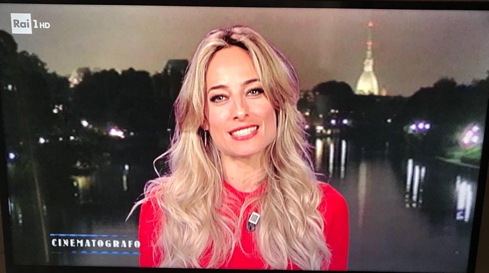 Jessica intervistata da Gigi Marzullo per la trasmissione Il cinematografo sulla RAI