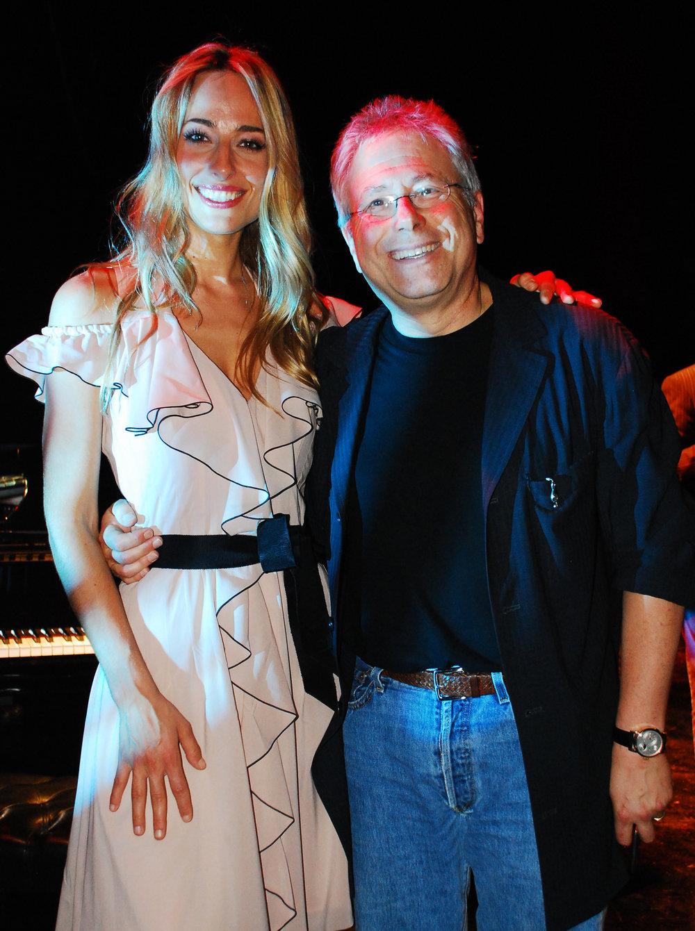 Jessica con il celebratissimo compositore Broadway Alan Menken