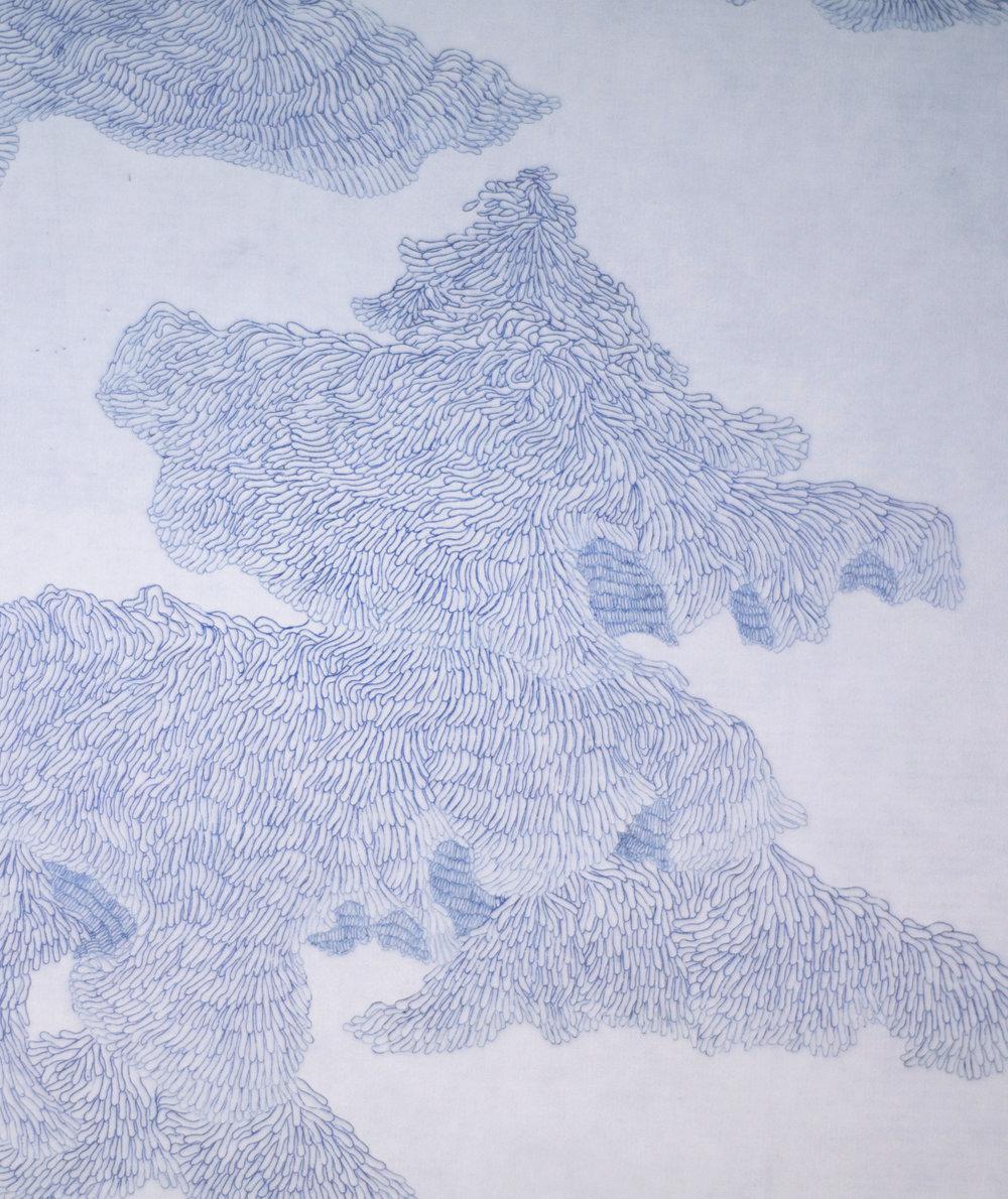 Floating landscape 001,  (detail) 2010. Etching