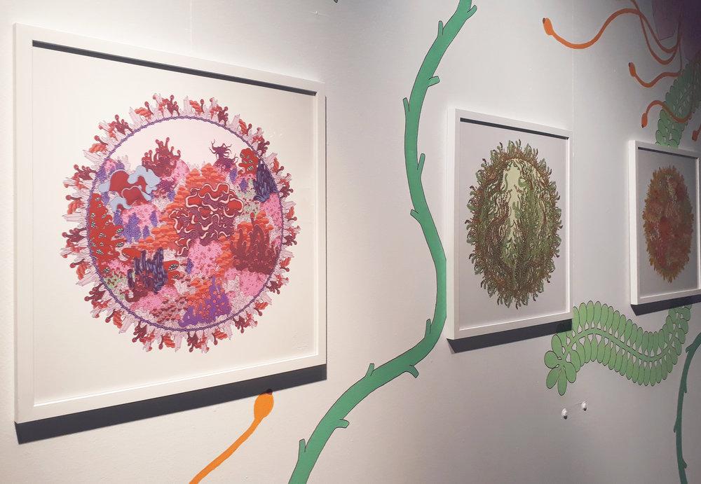 Urban nature, (detail)  2018. Collective exhibition, Cultural Center of Saint-Gilles, BRUSSELS, Belgium.