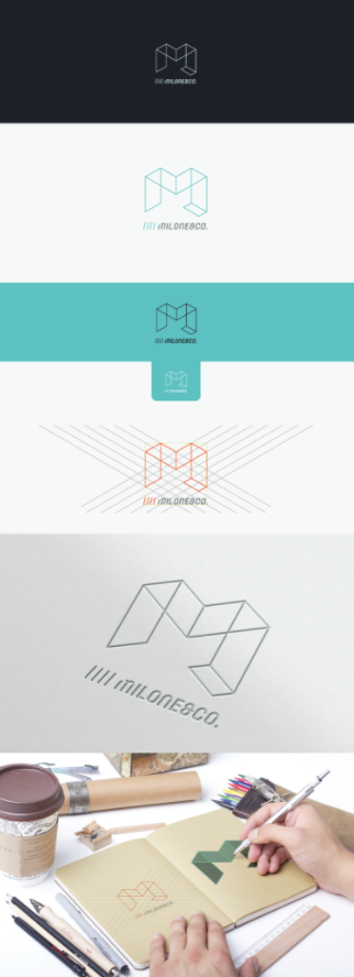 Logo design process milone and company